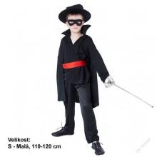 Dětský karnevalový kostým ZORRO MSTITEL 110 - 120cm ( 4 - 6 let )
